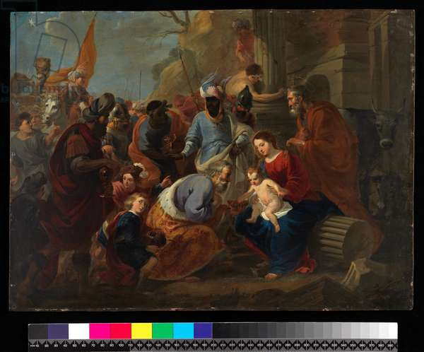 Adoration of the Kings, before 1667 (oil on copper)