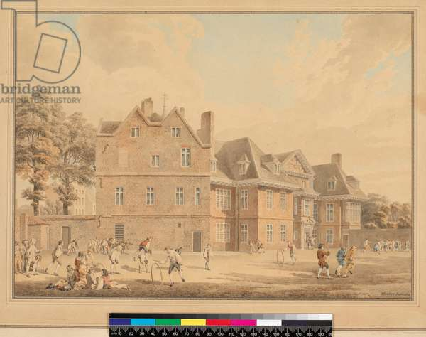 The Old Manor House, Marylebone, as a School, 1791 (pencil & w/c)