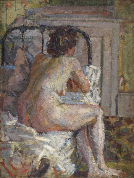 Nude on a bed, c.1914 (oil on canvas)