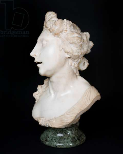 Bust of Cleopatra, c.1680-90 (creamy-white marble, carved in the round, supported on a circular verde antico socle)
