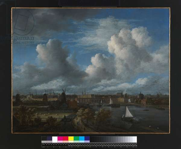 View on the Amstel looking towards Amsterdam, c.1675-70 (oil on canvas)