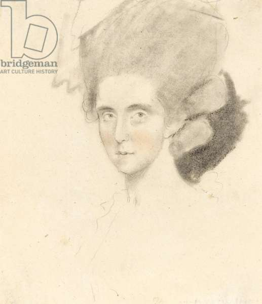 The Countess of Strathmore, 1781 (pencil with black & red chalks on paper)