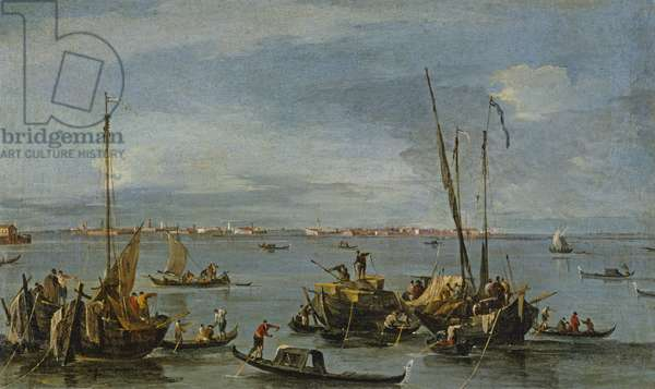 View towards Murano from the Fondamente Nuove, Venice (oil on canvas)