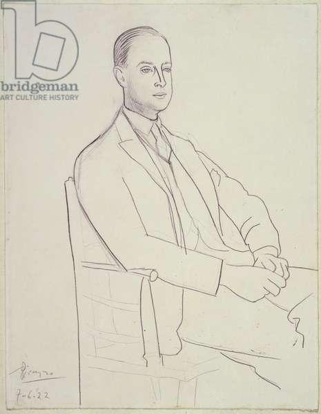 Portrait of Bertie Landsberg, 1922 (pencil on paper)
