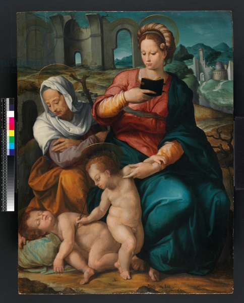 Virgin and Child with St. Elizabeth and the Infant Baptist, Florentine (panel)