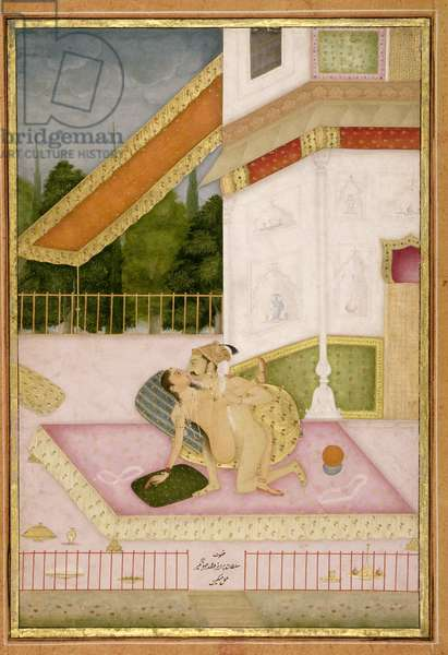 The private pleasure of Prince Parwez, son of Jahangir, by Miskin, Bikaner, Rajasthan, Rajput School, c.1678-98 (gouache on paper)