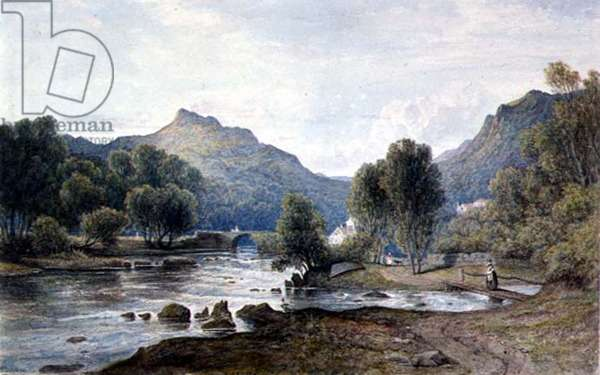 PD.9-1997 A View in Wales, c.1826 (w/c on paper)