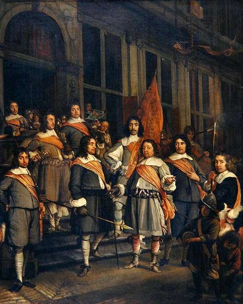A Company of the Hague Arquebusiers, 1660 (oil on canvas)