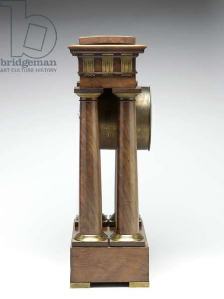 Decimal clock, c.1798-1805 (pine, brass & enamel)