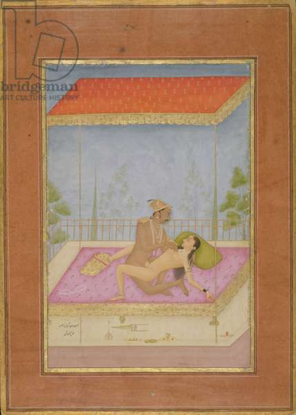 The private pleasure of Raja Bhagwandas, by Kanak Singh, Bikaner, Rajasthan, Rajput School, c.1678-98, (gouache on paper)