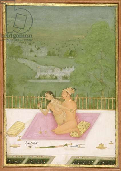 The private pleasure of Prince Shah Jahan, son of Jahangir by Hunhar, Bikaner, Rajasthan, Rajput School, c.1678-98, (gouache on paper)