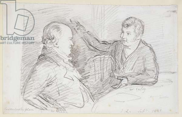 William Blake (1757-1827) in Conversation with John Varley (1778-1842) September 1821 (pencil on paper)