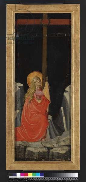 Mary Magdalene embracing the Cross, reverse (tempera & gold on panel)