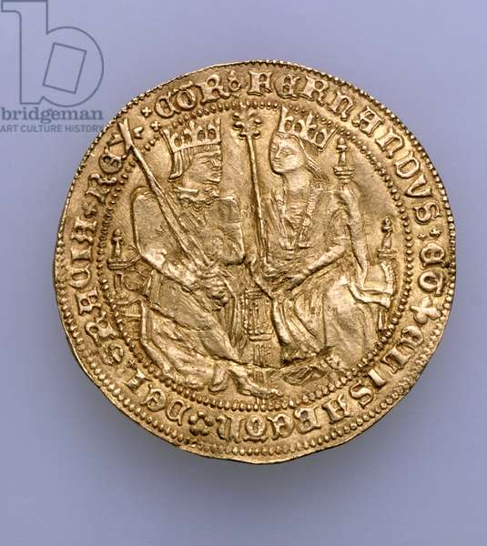 Double excelente of Ferdinand II of Aragon (1479-1516) and Isabella of Castille (1474-1504), Seville Mint, 1475 (gold) (see 168056)