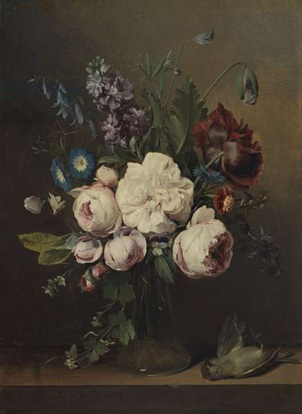 A Vase of Flowers (oil on canvas)