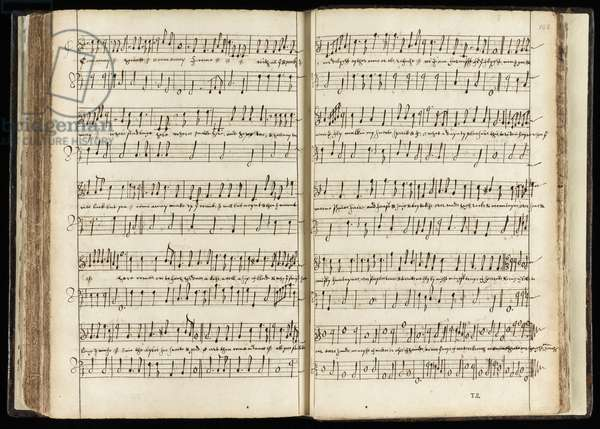 Ms 782 ff.107v-108 'Come away, come away Hecate', musical score for 'Macbeth' (ink on paper)