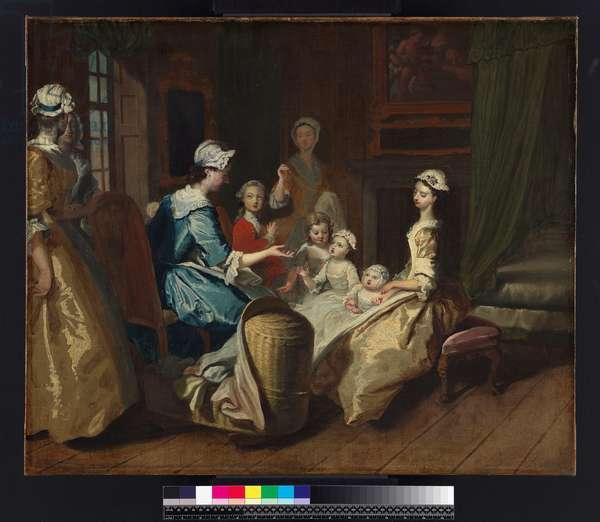 Pamela tells a nursery tale, from 'Pamela: or Virtue Rewarded' by Samuel Richardson (1689-1761) published 1740, c.1744 (oil on canvas)