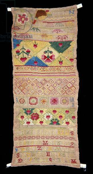 Band Sampler, 1721 (embroidery)