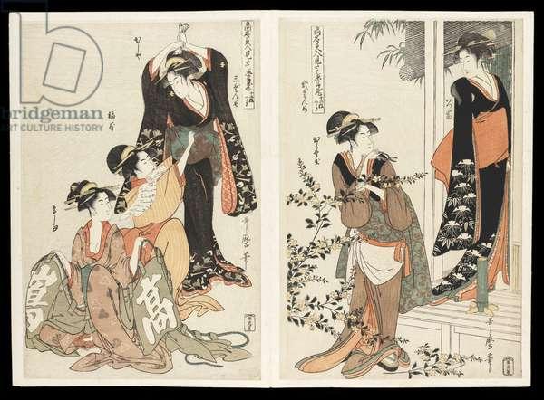 Kômei bijin mitate Chûshingura junimai tsuzuki (The Chûshingura drama parodied by famous beauties): a set of twelve prints, c.1795 (colour woodblock print)