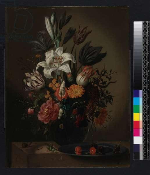Vase of flowers, 1640 (oil on panel)