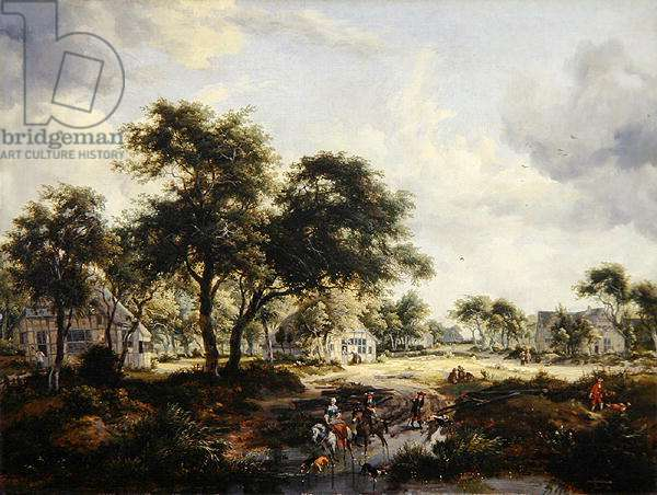 Wooded Landscape, 1667 (oil on canvas)