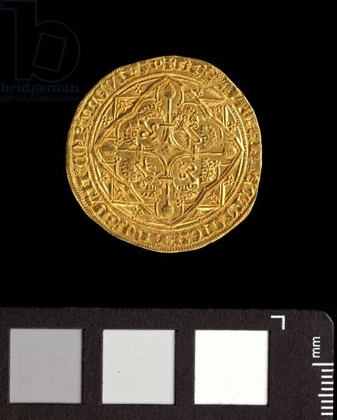 Guyennois d'or of Edward 'The Black Prince', 1362-72 (gold) (obverse of 5944008)