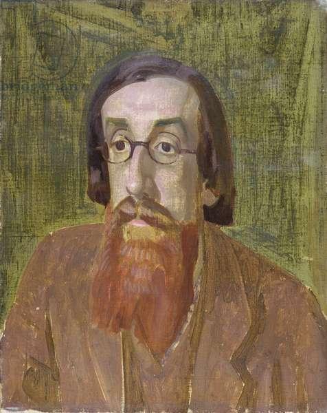 Portrait of Lytton Strachey (1880-1932) c.1913-14 (oil on canvas)