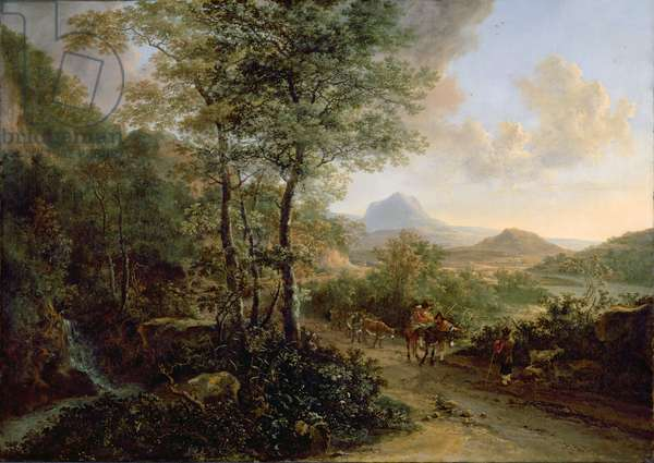 Italian Landscape, c.1637-41 (oil on canvas)