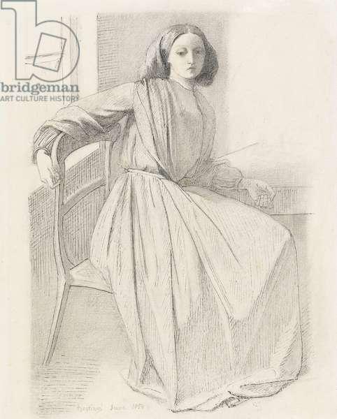 Portrait of Elizabeth Siddal, 1854-56 (pencil on paper)