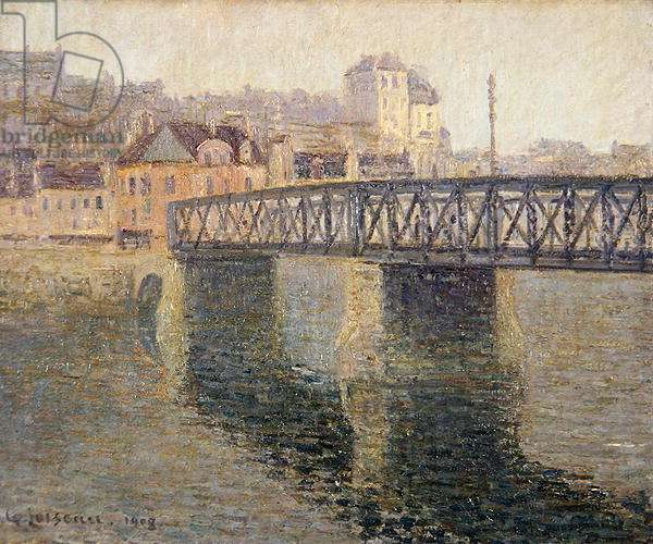 The Iron Bridge at St. Ouen, 1908 (oil on canvas)
