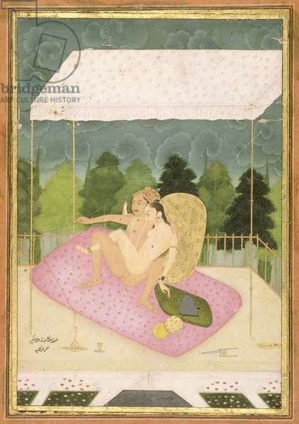 The private pleasure of Prince Jahandar, son of Jahangir, by Abdul Hamid, Bikaner, Rajasthan, Rajput School, c.1678-98 (gouache on paper)