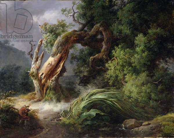 The Oak and the Reed, 1816 (oil on canvas)
