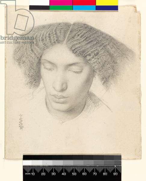 Portrait of Mrs Fanny C.h.n, 1859 (graphite on paper)