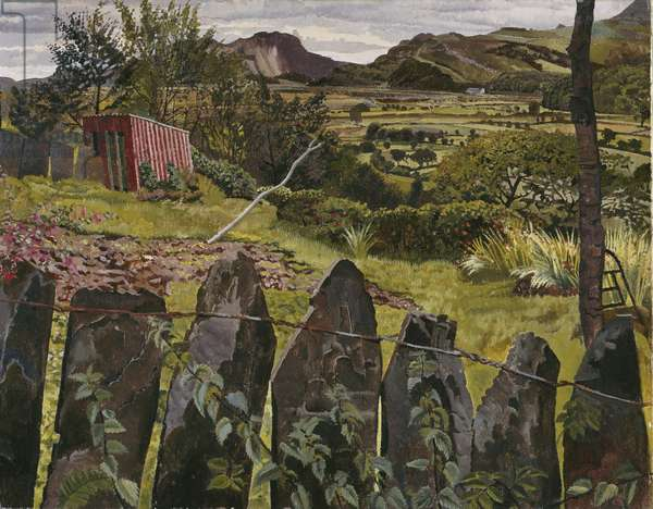 Landscape in North Wales, 1938 (oil on canvas)