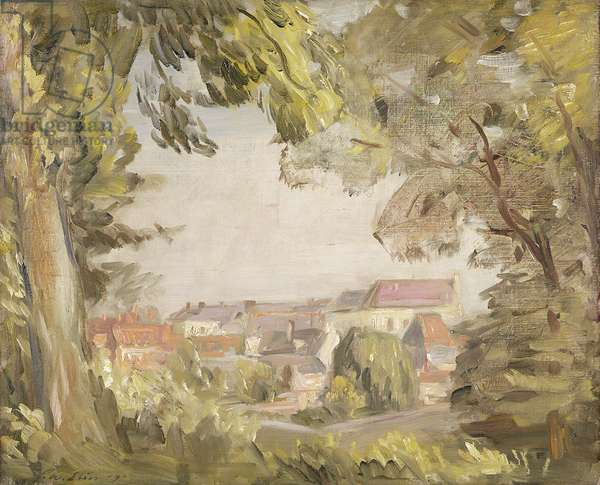 Montreuil from the Ramparts, 1907 (oil on canvas)