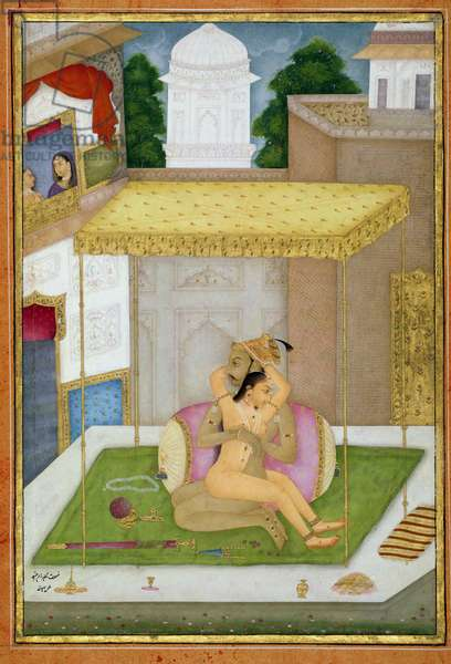 The private pleasure of Raja Ram Chand, by Bhura, Bikaner, Rajasthan, Rajput School, c.1678-98, (gouache on paper)
