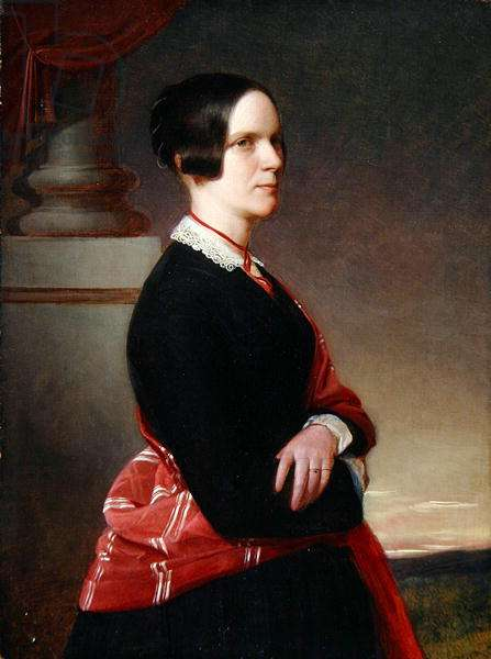 Portrait of Mrs. Sandys, the artist's mother, later 1840s (oil on panel)