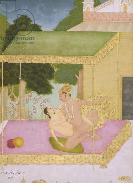 The private pleasure of Prince Dara Shikoh, son of Shah Jahan by Govardhan, Bikaner, Rajput School, Rajasthan, c.1678-98, (gouache on paper)