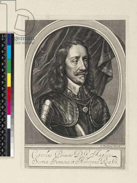 Portrait of Charles I, 1658 (engraving)