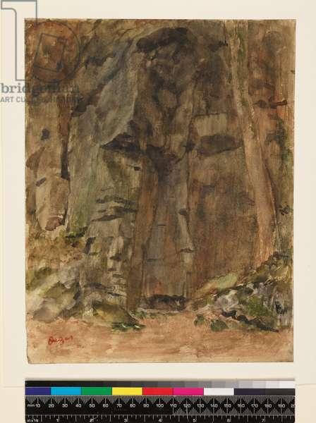Rocks at Bagnoles-De-L'Orne, before 1917 (w/c & oil on paper)