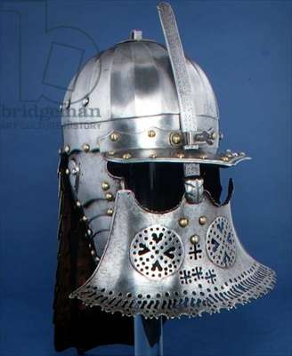 HEN.M.94-1933 Zischagge, or Lobster-tailed helmet, Polish, c.1640 (steel)