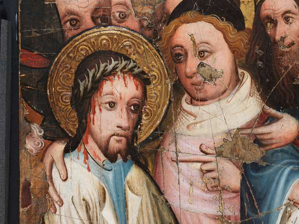 Christ Before Pilate (detail), 1400-25 (egg tempera on panel)