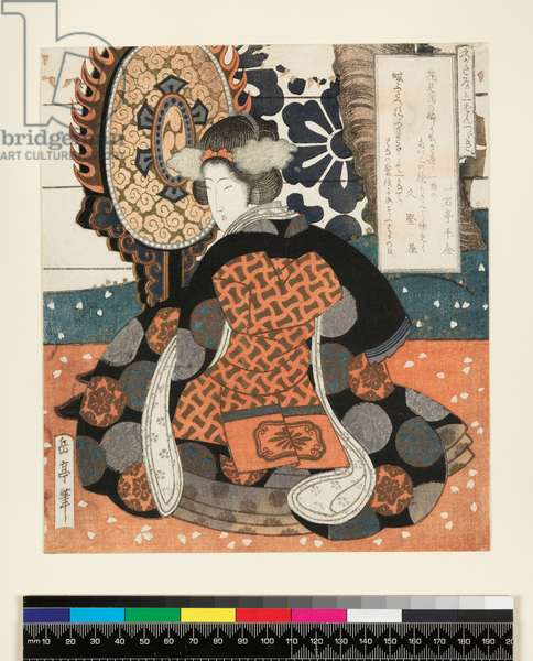 Hisakataya Goban Tsuzuki, a five-panel picture for the Hisakataya Group, c.1827 (Surimono - woodblock print)