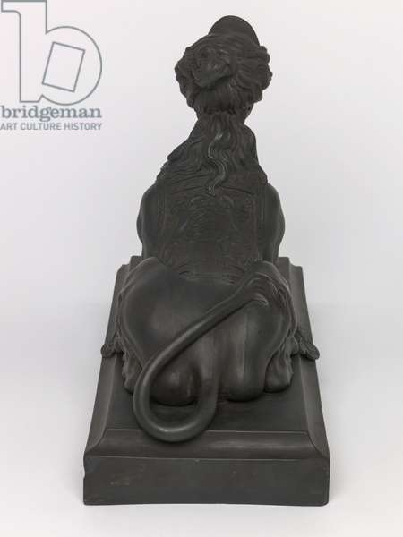 Grecian Sphinx, 1780-1900 (moulded black basalt)