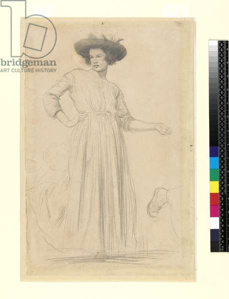 Ida John (1877-1907), c.1906-07 (pencil on discoloured grey-white paper)