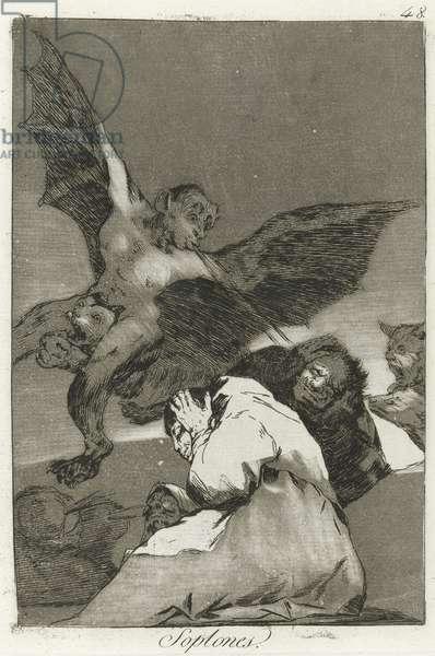 Soplones, Los Caprichos, 1799 (etching)