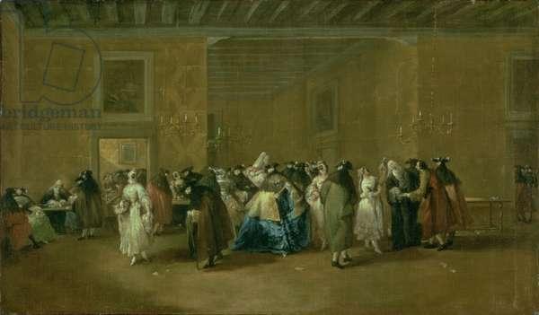 The Sala Grande of the Ridotto, Palazzo Dandolo, San Moise, 1755-60 (oil on canvas)