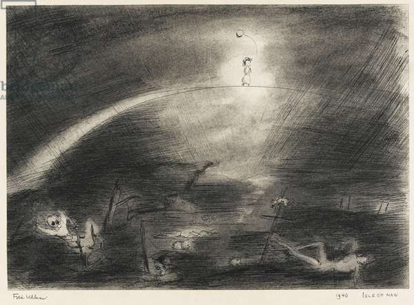 1940 Isle of Man, 1940 (chalk, ink & wash on paper)