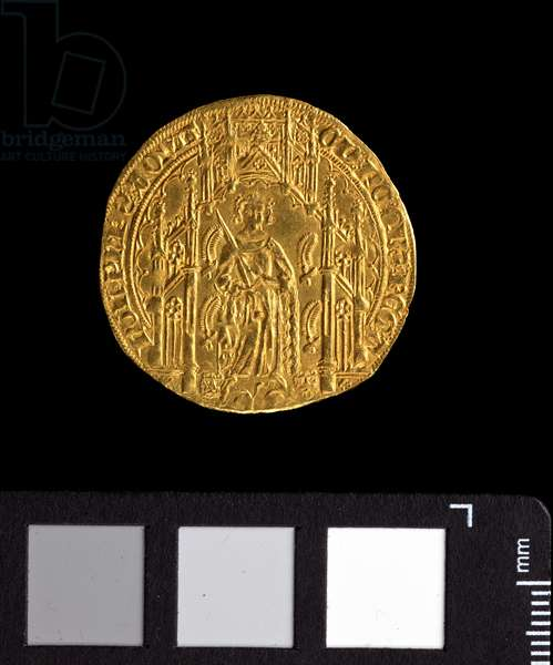 Guyennois d'or of Edward 'The Black Prince', 1362-72 (gold) (reverse of 5944007)