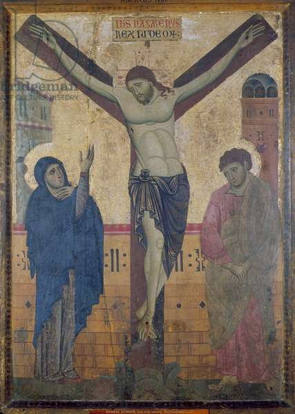 Crucifixion, c.1285 (tempera with gold on panel)